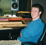 Éamonn Goggin at work in the sound studio